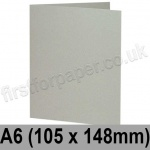 Colorset Recycled, Pre-creased, Single Fold Cards, 270gsm, 105 x 148mm (A6), Light Grey