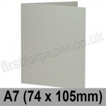 Colorset Recycled, Pre-creased, Single Fold Cards, 270gsm, 74 x 105mm (A7), Light Grey