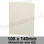 Colorset Recycled, Pre-creased, Single Fold Cards, 270gsm, 108 x 140mm (American A2), Natural