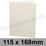 Colorset Recycled, Pre-creased, Single Fold Cards, 270gsm, 115 x 168mm, Natural
