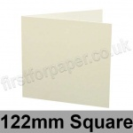 Colorset Recycled, Pre-creased, Single Fold Cards, 270gsm, 122mm Square, Natural