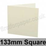 Colorset Recycled, Pre-creased, Single Fold Cards, 270gsm, 133mm Square, Natural