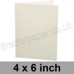 Colorset Recycled, Pre-creased, Single Fold Cards, 270gsm, 102 x 152mm (4 x 6 inch), Natural