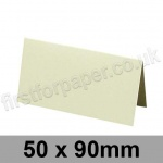 Colorset Recycled, Pre-creased, Place Cards, 270gsm, 50 x 90mm, Natural