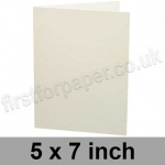 Colorset Recycled, Pre-creased, Single Fold Cards, 270gsm, 127 x 178mm (5 x 7 inch), Natural