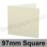 Colorset Recycled, Pre-creased, Single Fold Cards, 270gsm, 97mm Square, Natural
