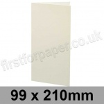 Colorset Recycled, Pre-creased, Single Fold Cards, 270gsm, 99 x 210mm, Natural