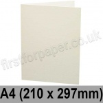 Colorset Recycled, Pre-creased, Single Fold Cards, 270gsm, 210 x 297mm (A4), Natural