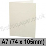 Colorset Recycled, Pre-creased, Single Fold Cards, 270gsm, 74 x 105mm (A7), Natural