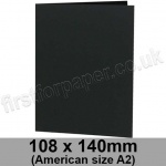 Colorset Recycled, Pre-creased, Single Fold Cards, 270gsm, 108 x 140mm (American A2), Nero