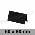 Colorset Recycled, Pre-creased, Place Cards, 270gsm, 50 x 90mm, Nero