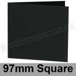 Colorset Recycled, Pre-creased, Single Fold Cards, 270gsm, 97mm Square, Nero