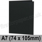 Colorset Recycled, Pre-creased, Single Fold Cards, 270gsm, 74 x 105mm (A7), Nero