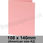 Colorset Recycled, Pre-creased, Single Fold Cards, 270gsm, 108 x 140mm (American A2), Pink Ice