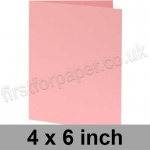 Colorset Recycled, Pre-creased, Single Fold Cards, 270gsm, 102 x 152mm (4 x 6 inch), Pink Ice