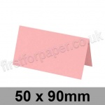 Colorset Recycled, Pre-creased, Place Cards, 270gsm, 50 x 90mm, Pink Ice