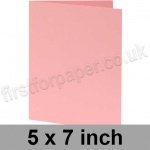 Colorset Recycled, Pre-creased, Single Fold Cards, 270gsm, 127 x 178mm (5 x 7 inch), Pink Ice