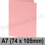 Colorset Recycled, Pre-creased, Single Fold Cards, 270gsm, 74 x 105mm (A7), Pink Ice