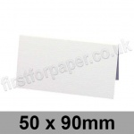 Conqueror Laid, Pre-creased, Place Cards, 300gsm, 50 x 90mm, Diamond White
