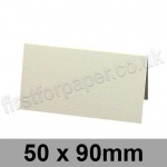 Conqueror Laid, Pre-creased, Place Cards, 300gsm, 50 x 90mm, High White