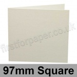 Conqueror Laid, Pre-creased, Single Fold Cards, 300gsm, 97mm Square, High White