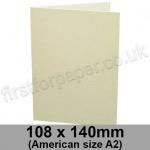Conqueror Laid, Pre-creased, Single Fold Cards, 300gsm, 108 x 140mm (American A2), Cream
