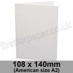 Conqueror Laid, Pre-creased, Single Fold Cards, 300gsm, 108 x 140mm (American A2), Diamond White