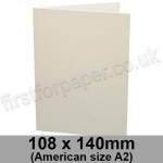 Conqueror Laid, Pre-creased, Single Fold Cards, 300gsm, 108 x 140mm (American A2), High White
