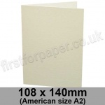 Conqueror Laid, Pre-creased, Single Fold Cards, 300gsm, 108 x 140mm (American A2), Oyster