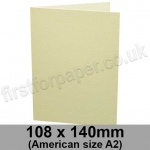 Conqueror Laid, Pre-creased, Single Fold Cards, 300gsm, 108 x 140mm (American A2), Vellum