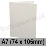 Conqueror Laid, Pre-creased, Single Fold Cards, 300gsm, 74 x 105mm (A7), Brilliant White