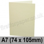 Conqueror Laid, Pre-creased, Single Fold Cards, 300gsm, 74 x 105mm (A7), Cream