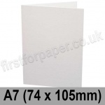 Conqueror Laid, Pre-creased, Single Fold Cards, 300gsm, 74 x 105mm (A7), Diamond White