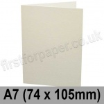 Conqueror Laid, Pre-creased, Single Fold Cards, 300gsm, 74 x 105mm (A7), High White
