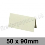 Conqueror Wove, Pre-creased, Place Cards, 300gsm, 50 x 90mm, Oyster