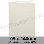 Conqueror Wove, Pre-creased, Single Fold Cards, 300gsm, 108 x 140mm (American A2), High White