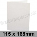 Conqueror Wove, Pre-creased, Single Fold Cards, 300gsm, 115 x 168mm, Brilliant White
