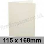 Conqueror Connoisseur 100% Cotton, Pre-creased, Single Fold Cards, 300gsm, 115 x 168mm, Soft White