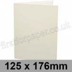 Conqueror Connoisseur 100% Cotton, Pre-creased, Single Fold Cards, 300gsm, 125 x 176mm, Soft White