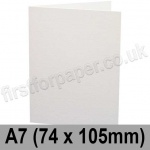 Conqueror Wove, Pre-creased, Single Fold Cards, 300gsm, 74 x 105mm (A7), Brilliant White