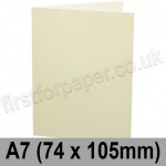 Conqueror Wove, Pre-creased, Single Fold Cards, 300gsm, 74 x 105mm (A7), Cream