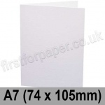 Conqueror Wove, Pre-creased, Single Fold Cards, 300gsm, 74 x 105mm (A7), Diamond White