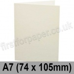 Conqueror Connoisseur 100% Cotton, Pre-creased, Single Fold Cards, 300gsm, 74 x 105mm (A7), Soft White