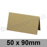 Cairn Eco Kraft, Pre-creased, Place Cards, 280gsm, 50 x 90mm
