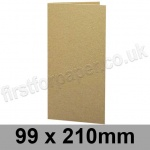 Cairn Eco Kraft, Pre-creased, Single Fold Cards, 280gsm, 99 x 210mm