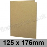 Cairn Eco Kraft, Pre-creased, Single Fold Cards, 280gsm, 125 x 176mm