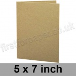 Cairn Eco Kraft, Pre-creased, Single Fold Cards, 280gsm, 127 x 178mm (5 x 7 inch)