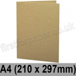 Cairn Eco Kraft, Pre-creased, Single Fold Cards, 280gsm, 210 x 297mm (A4)