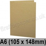Cairn Eco Kraft, Pre-creased, Single Fold Cards, 280gsm, 105 x 148mm (A6)