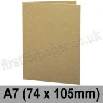 Cairn Eco Kraft, Pre-creased, Single Fold Cards, 280gsm, 74 x 105mm (A7)